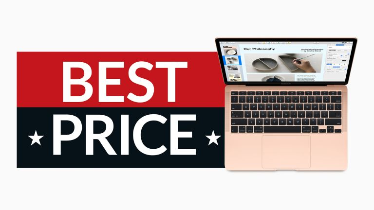 MacBook Air deal image with open laptop and sign saying Best Price