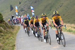 Tour de France 2020 107th Edition 7th stage Cazeres Loudenvielle 141 km 05092020 Wout Van Aert BEL Team Jumbo Visma Tom Dumoulin NED Team Jumbo Visma Adam Yates GBR Mitchelton Scott photo Vincent KalutPNBettiniPhoto2020