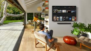 A family living room with Vizio