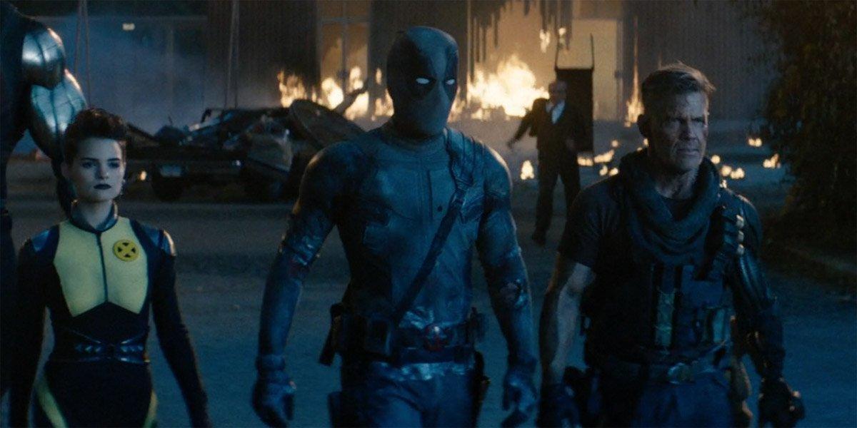 Deadpool Cable Negasonic Teenage Warhead in Deadpool 2