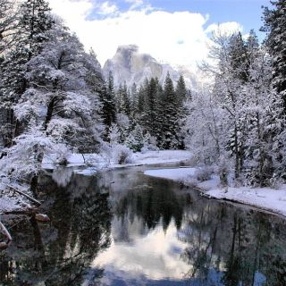 yosemite national park, yosemite in winter