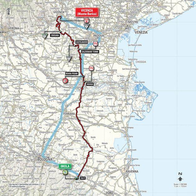 Giro d'Italia 2015 stage 12 map