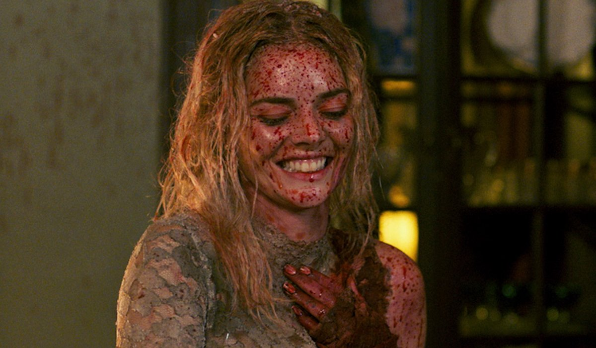 Ready Or Not Grace laughing while covered in blood
