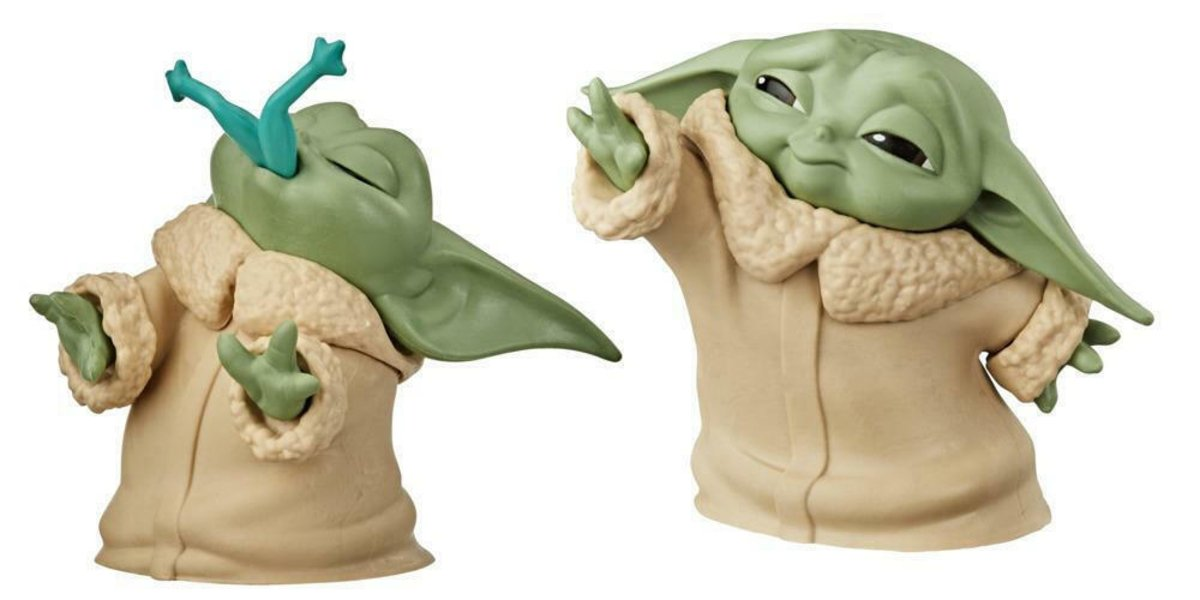 Baby Yoda (And Froggy) Figurine Two-Pack