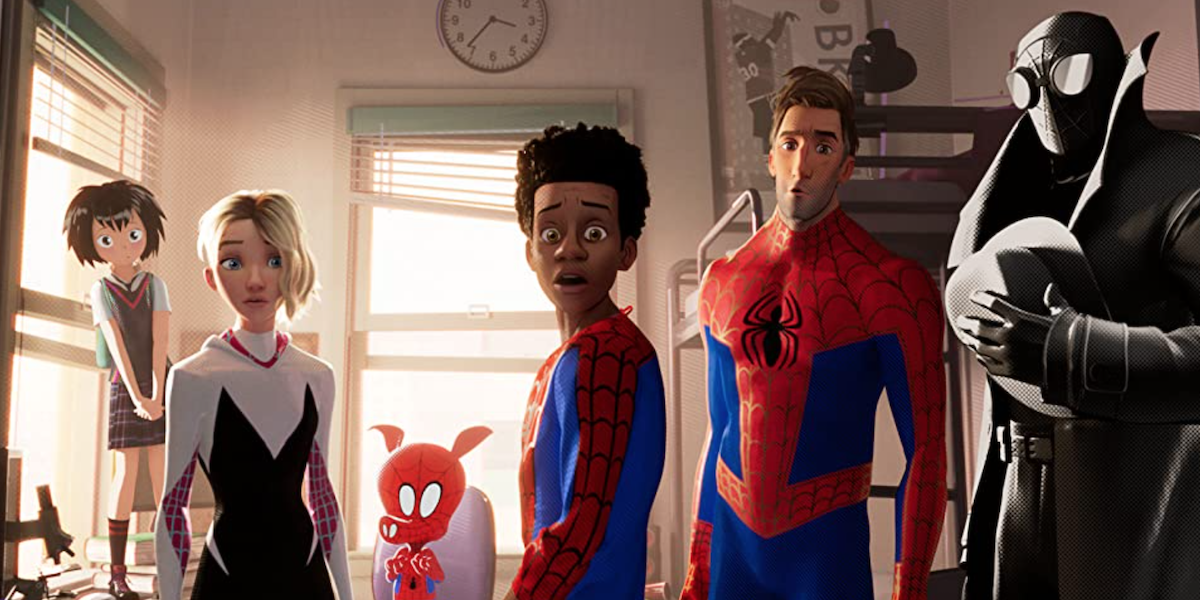 The main characters of Spider-Man: Into the Spider-Verse