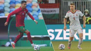 Hungary vs Portugal live stream Euro 2020 — Cristiano Ronaldo of Portugal and Willi Orban of Hungary