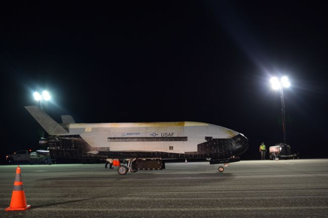 The Air Force's X-37B Orbital Test Vehicle Mission 5 successfully landed at NASA's Kennedy Space Center Shuttle Landing Facility Oct. 27, 2019.