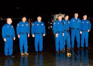 Astronaut Crew Makes Rainy Florida Arrival