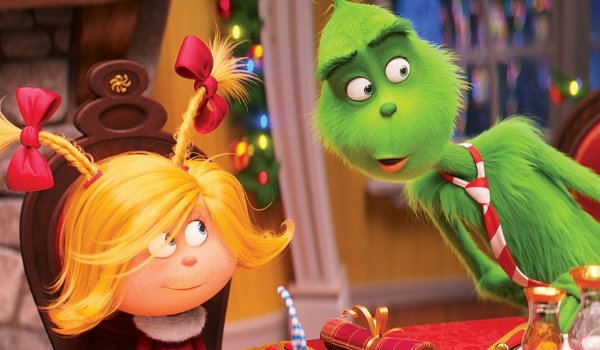 Dr. Seuss' The Grinch Cindy-Lou and The Grinch share a dinner