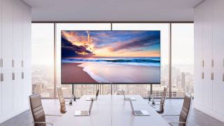 The LG 130-inch All-in-One Direct View LED Screen, first previewed at InfoComm 2019, is available now to order.