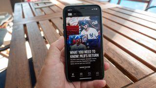 The Fox Sports app on iPhone