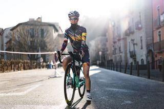 Kasia Niewiadoma in the all-new Canyon-SRAM jersey for 2021