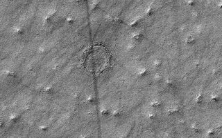 MRO Photo of Possible Mars Impact Crater