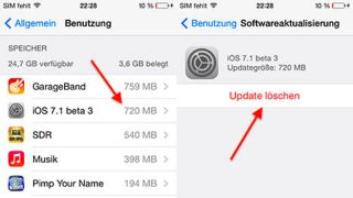 """iOS 7.1 may allow iPhone users to delate space-hogging installation files"