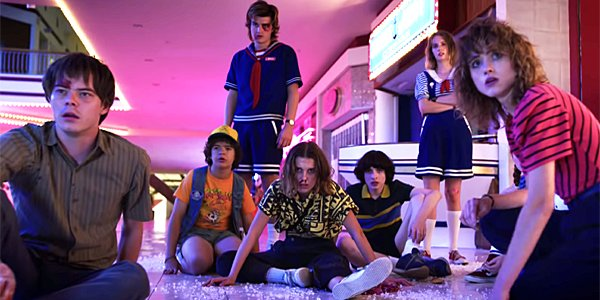 Stranger Things Season 3 cast mall shot after attack Netflix