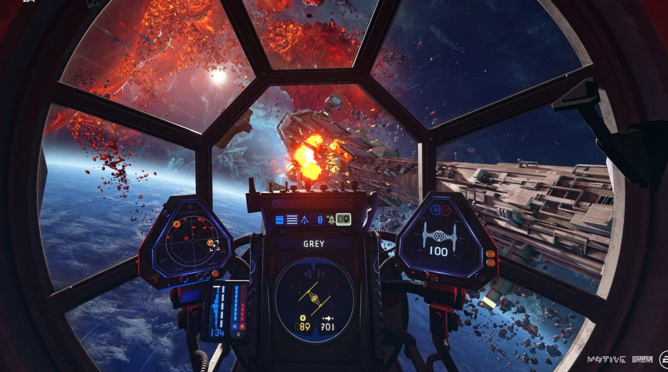 Take A Tour Of The Cockpits Of Star Wars Squadrons Pc Gamer