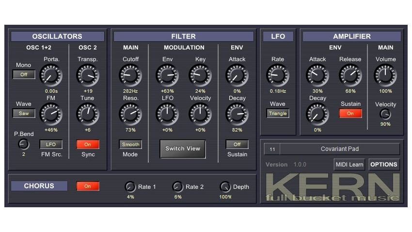 is full bucket music 39 s kern the streamlined free vst plugin synth you 39 ve been looking for. Black Bedroom Furniture Sets. Home Design Ideas