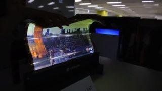 LG roll up display
