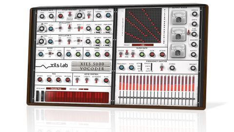 The Model 5000-based parameters sit on the right-hand side, with the synth controls and modulator panels on the left