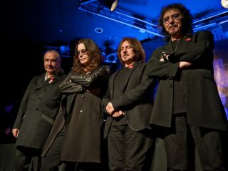 The band at the reunion announcement on November 2011