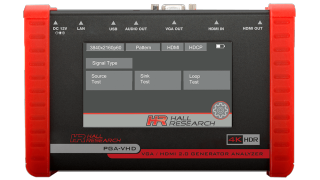 Hall Research Ships 4K Video Test Generator, Analyzer