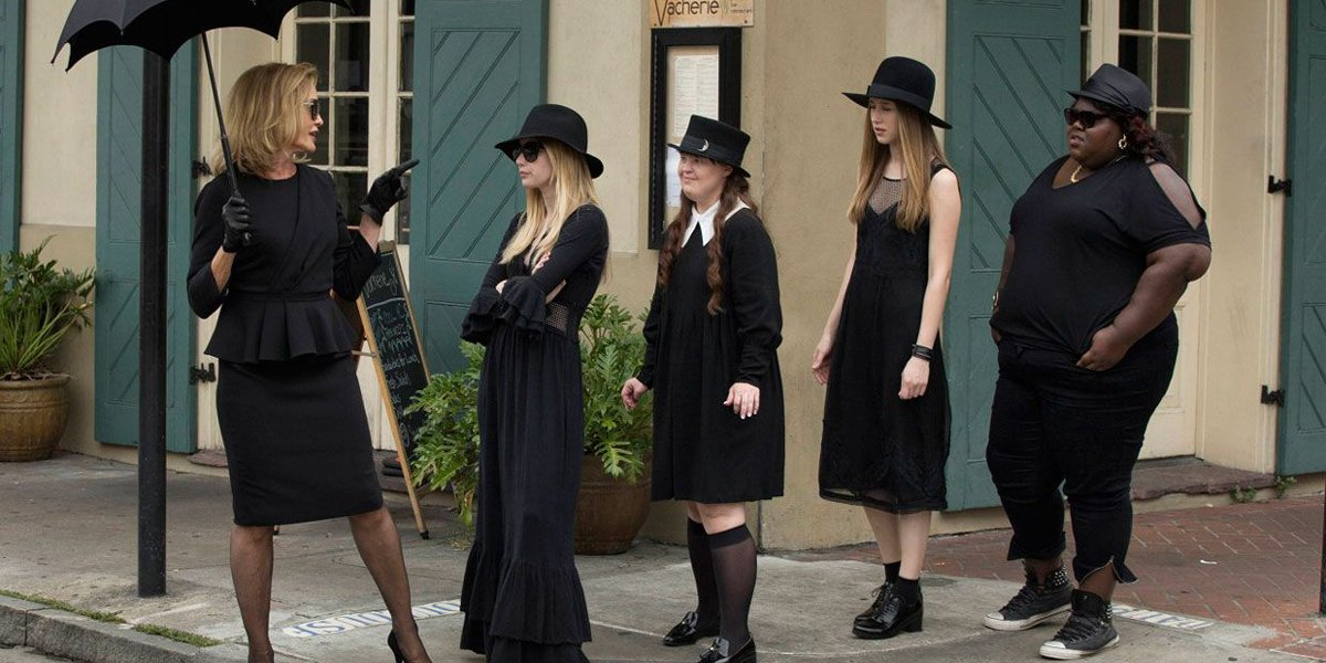 American Horror Story: Coven witches led Jessica Lange Fiona Goode FX