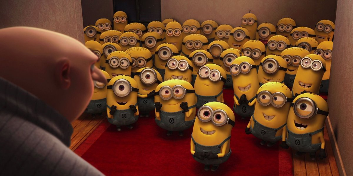 Gru and his Minions in Despicable Me