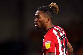 Brentford's Ivan Toney during the Sky Bet Championship match at Brentford Community Stadium, Brentford. Picture date: Wednesday February 3, 2021.