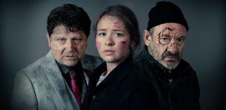 Emmerdale Paul (Reece Dinsdale), Liv (Isobel Steele) and Jimmy (Nick Miles)