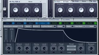 We're going to show you how to program a basic synth sound with kick-like qualities.