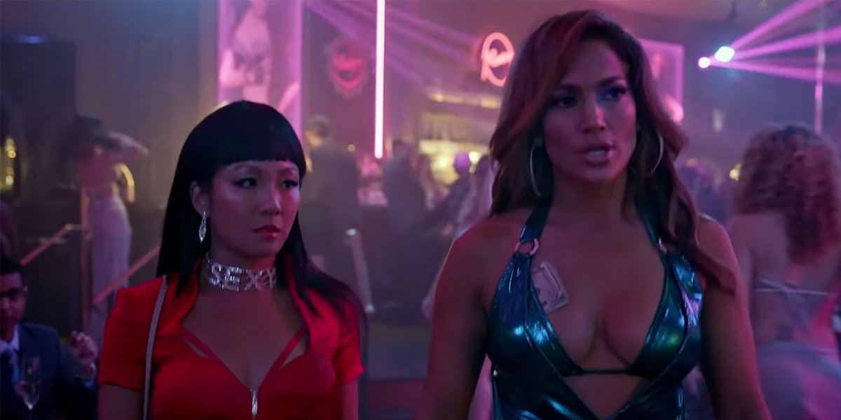Jennifer Lopez Constance Wu in a strip club in Hustlers