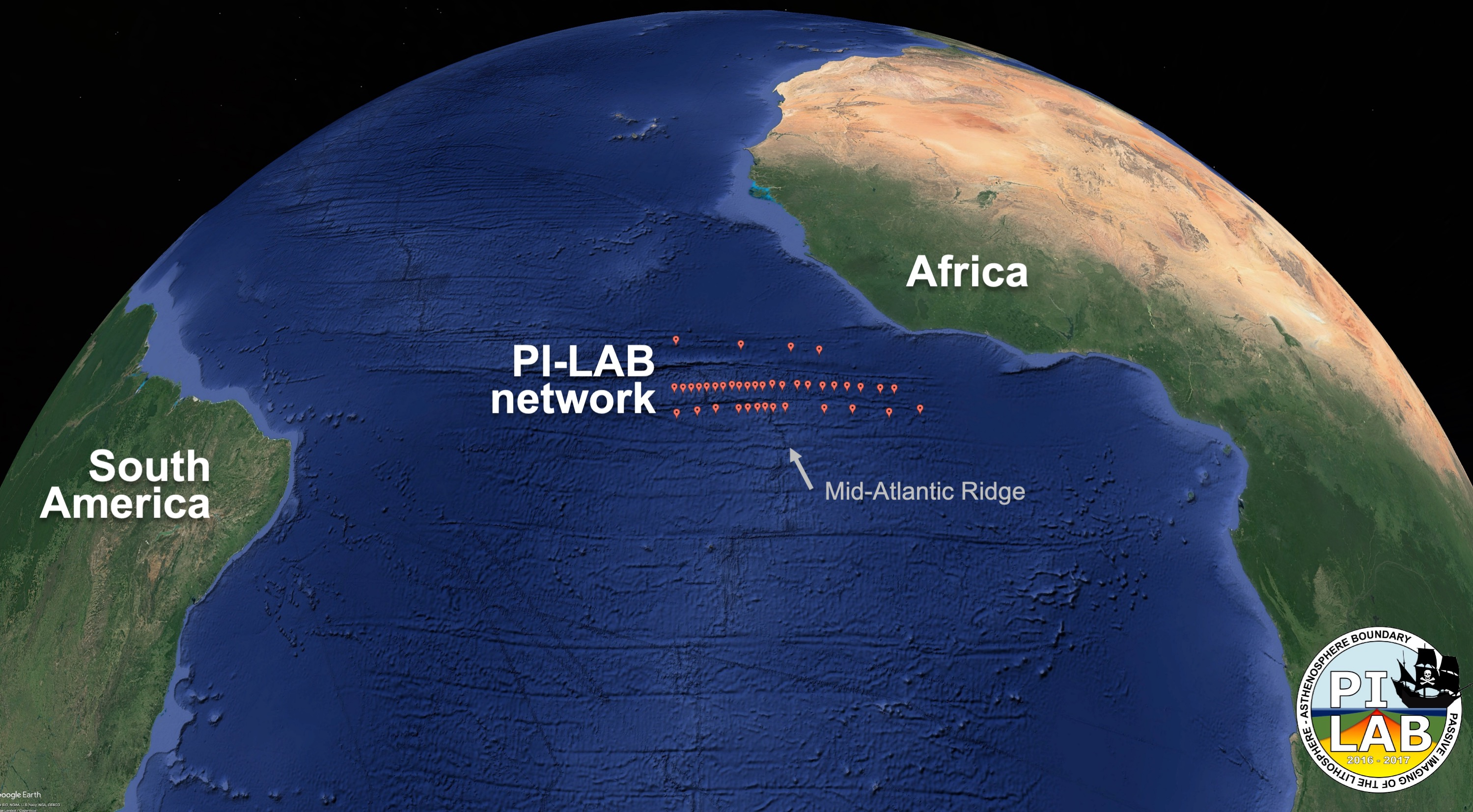39 seismometers were places across a span of hundreds of miles on the Mid-Atlantic Ridge.