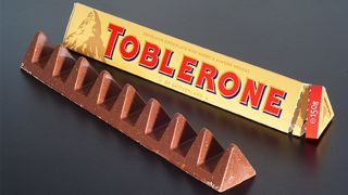 A photograph of the Toblerone chocolate bar.