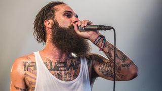 Jason Aalon Alexander Butler of letlive performs on stage at Download Festival at Donington Park on June 13, 2014 .