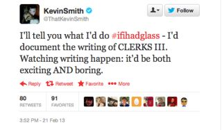 Snooch to the Nooch! Director Kevin Smith among celebrity Google Glass winners