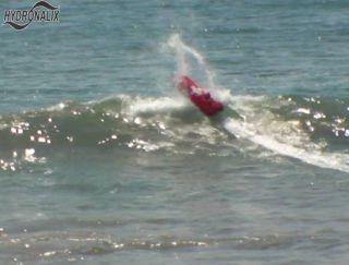 Robotic lifeguard E.M.I.L.Y. powers through the Malibu surf