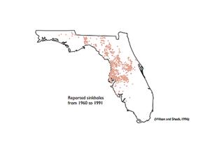 Florida sinkholes map