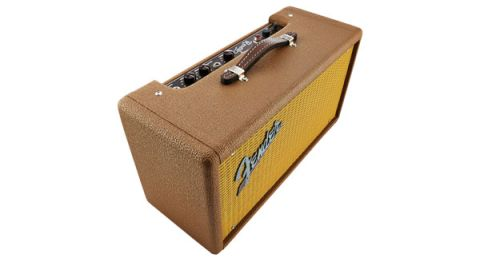 The Tube Reverb sits between guitar and amp with a remote footswitch to turn the effect on and off