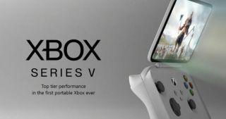 Concepto de consola Xbox Series X portátil