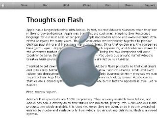 Apple - not a fan of Flash