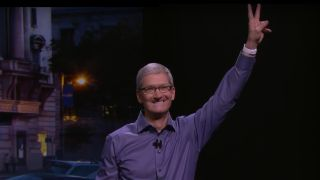 Tim Cook peace sign