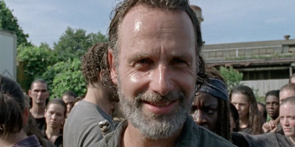 Rick Grimes Smiling Walking Dead Season 7