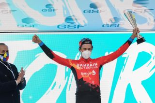 Tour de la Provence 2021 6th Edition 4th stage Avignon SalondeProvence 1632 km 14022021 Phil Bauhaus GER Bahrain Victorious photo William Cannarella CVBettiniPhoto2021