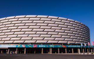Baku Olympic Stadium | Czech Republic v Denmark commentators | Euro 2020