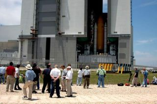 Discovery's Slow Crawl to the Pad