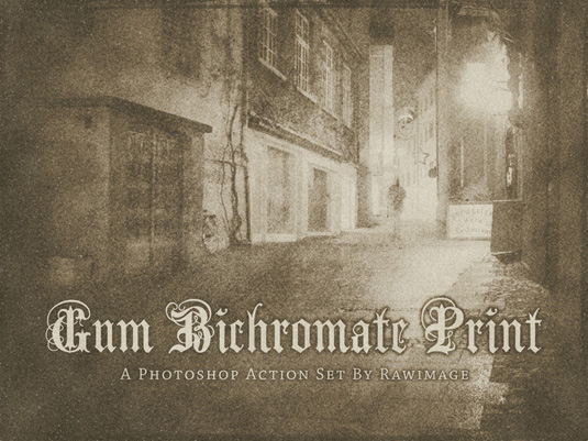 Free Photoshop actions: gum bichromatic print