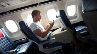 plane flight texting electronics