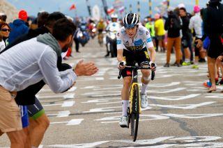 Jonas Vingegaard (Jumbo-Visma) left Tour de France leader Tadej Pogacar behind on Mont Ventoux