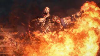 Resident Evil 3 Remake Nemesis Fire