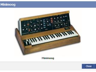 Now you can waste precious time sending pictures of classic synths to your Facebook friends.
